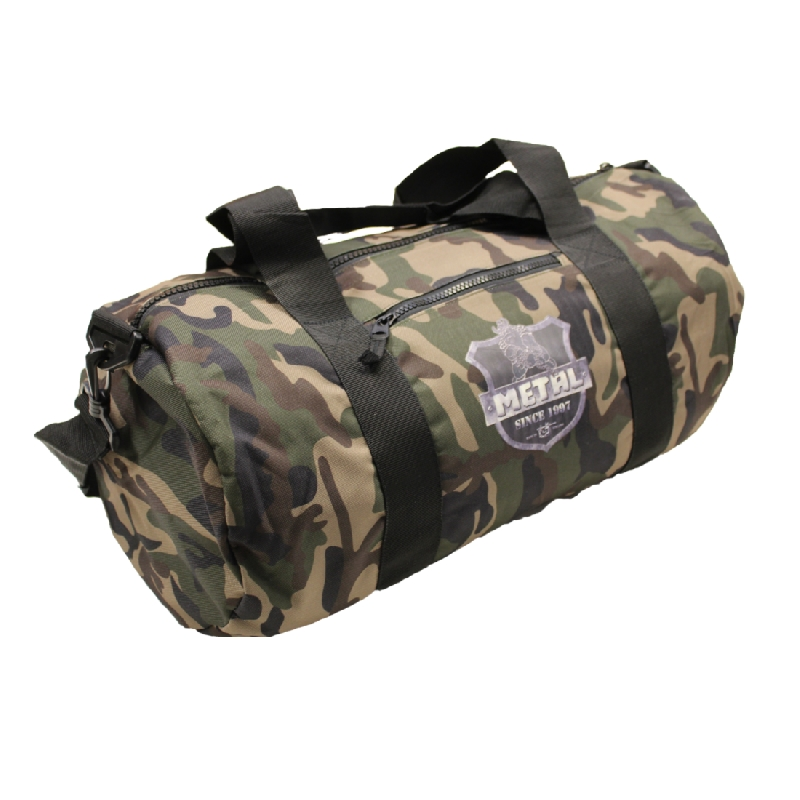 METAL CAMO BARRELL BAG