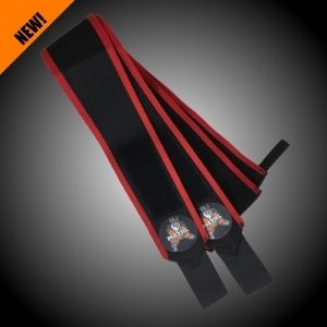 METAL Black'n Red Wrist Wraps 80cm (pár)